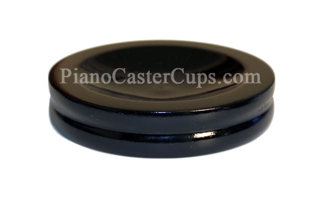 black piano caster cups