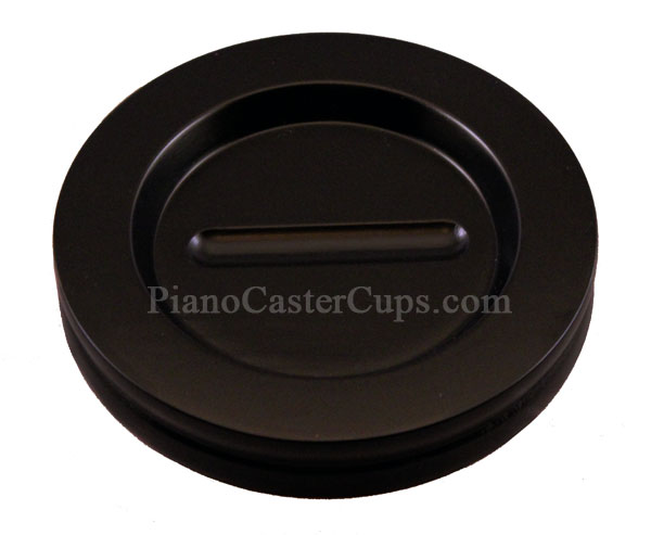 satin ebony piano caster cup