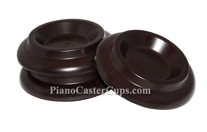 brown piano caster cups