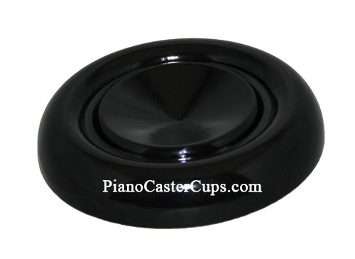 black high polish grand piano caster cup