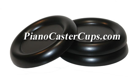 large grand piano caster cups black