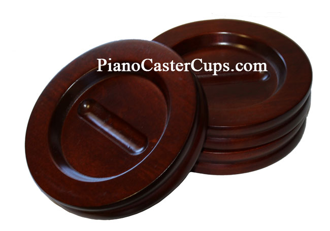 mahogany grand piano caster cups set of 3