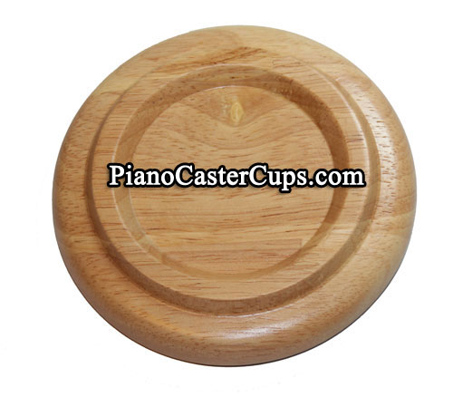 oak upright piano caster cup