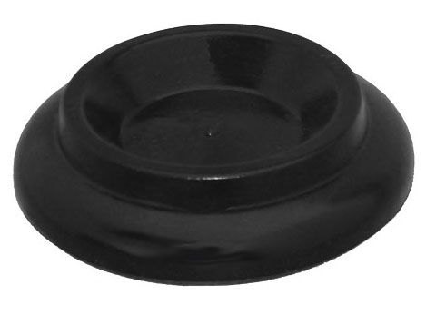 black piano caster cup with rubber pad