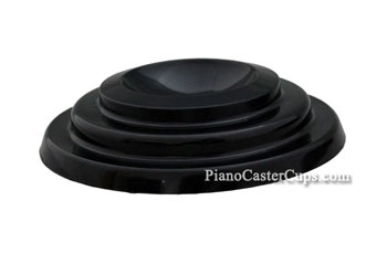 piano foot pad black