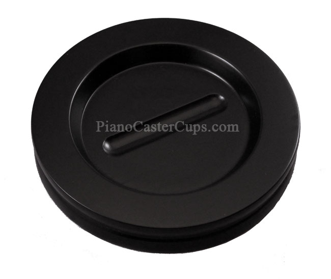 satin Black 5 1/2 inch piano caster cups