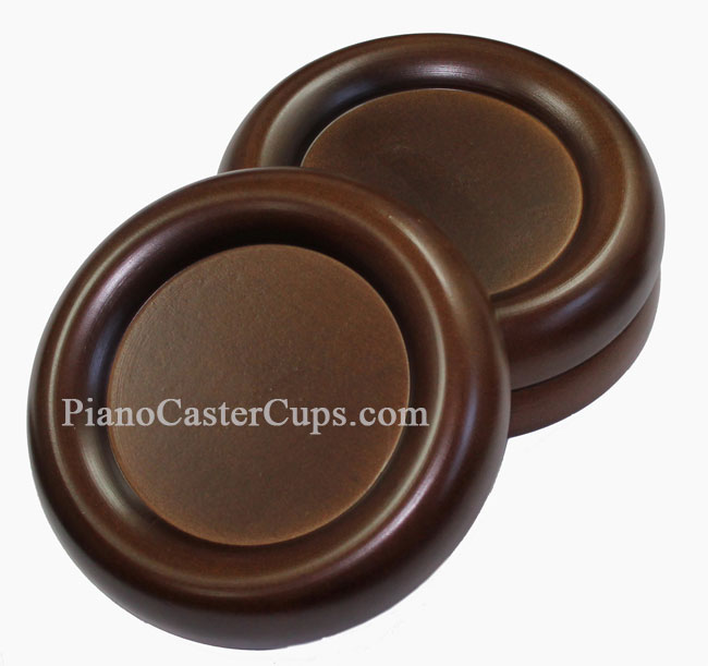 walnut grand piano caster cups 5.5 inches in width