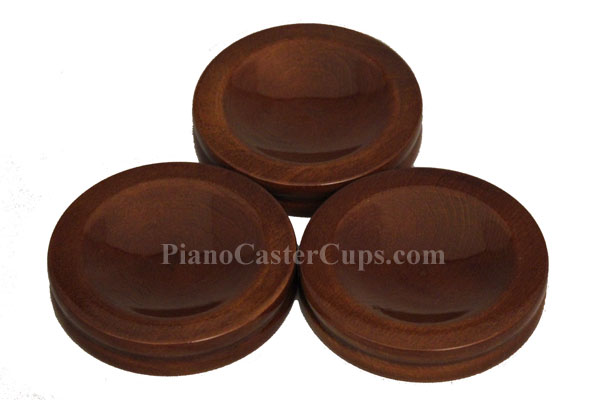 walnut piano caster cups