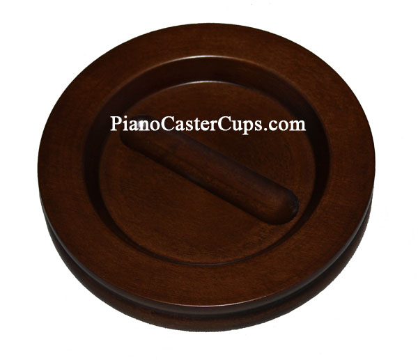 satin walnut piano caster cups