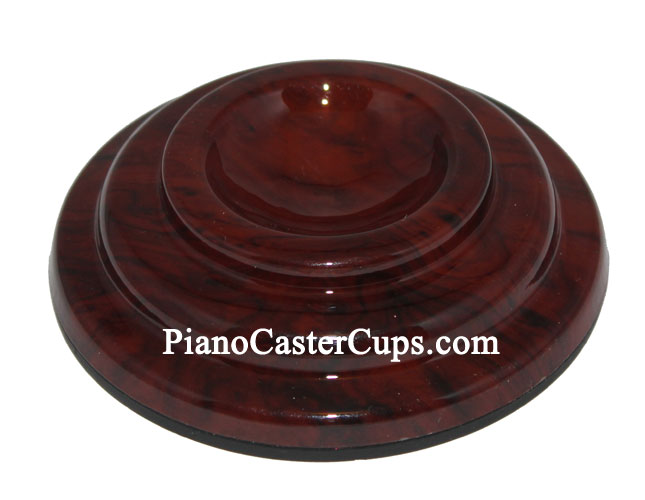 plastic caster cup mahogany brown